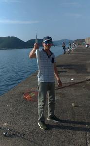 8月30日 石鯛 太刀魚 シオ ツバス ダツ